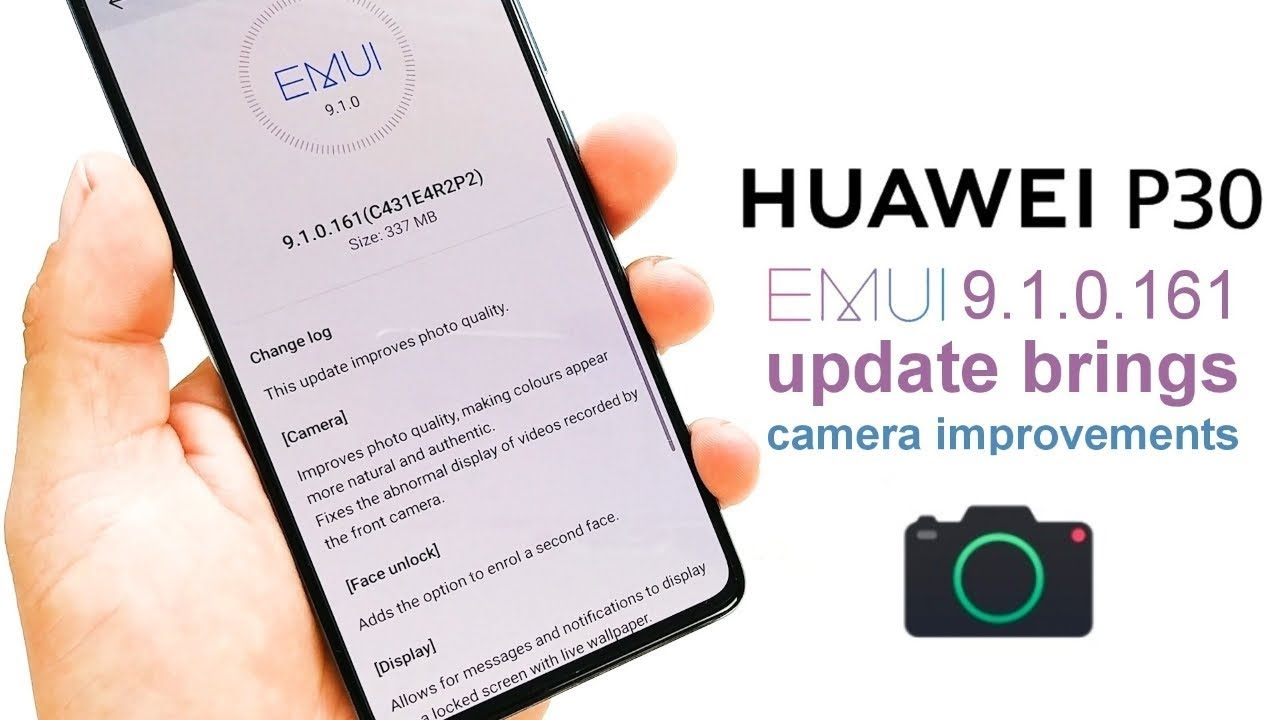Huawei P30's camera changes drastically through firmware update