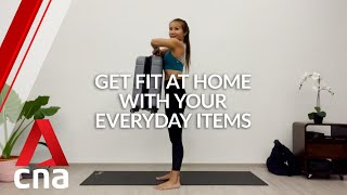 Workout from home: 8 easy exercise routines using everyday objects   CNA Lifestyle