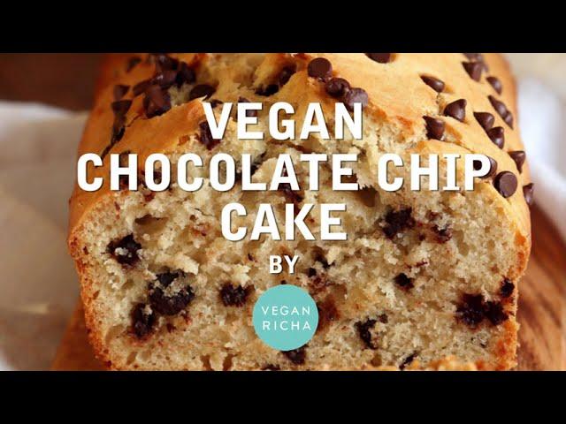 VEGAN CHOCOLATE CHIP CAKE | Vegan Richa Recipes