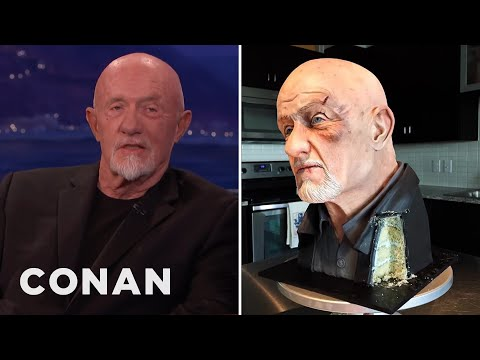 Someone Made A Cake That Looks Like Jonathan Banks' Head   CONAN on TBS