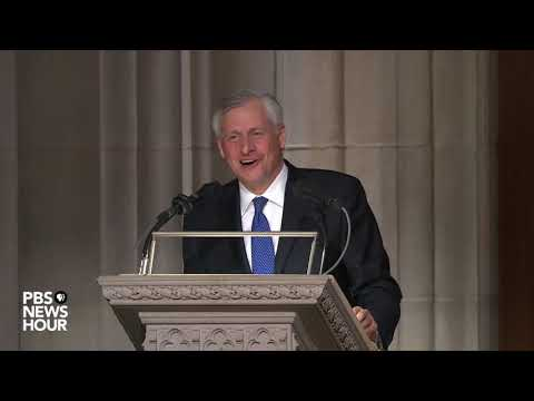 WATCH: Presidential biographer Jon Meacham delivers eulogy at George H.W. Bush funeral