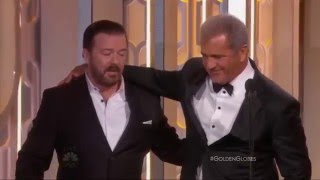 Mel Gibson vs Ricky Gervais (Golden Globes 2016 humiliation)