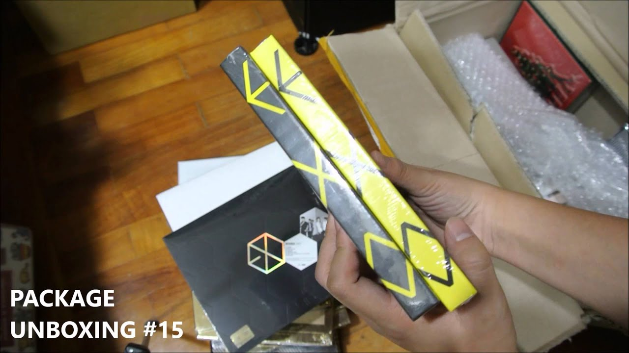 PACKAGE UNBOXING ULTIMATE EXO DISCOGRAPHY HAUL APINK BIGBANG 15