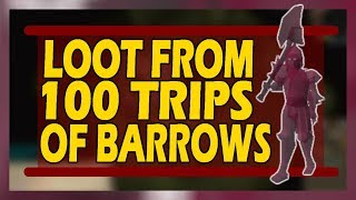 [OSRS] LOOT From 100 Barrows Chests | Mid Level Account