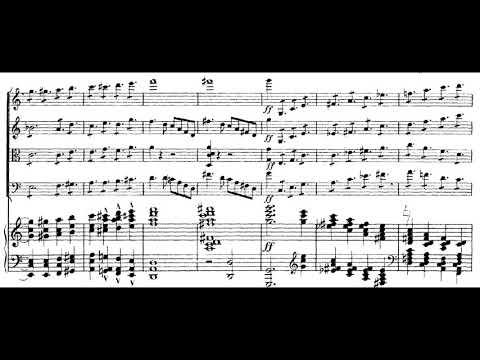 Ernő Dohnányi - Piano Quintet No. 1 in C minor Op. 1 [score + audio]