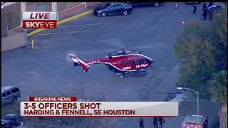 Five Houston police officers injured serving narcotics warrant [FULL COVERAGE]