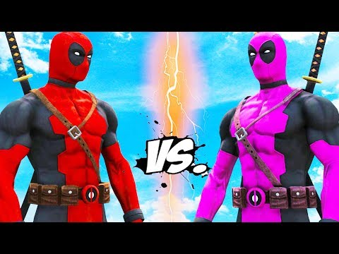DEADPOOL VS DEADPOOL - Red Suit vs Pink Suit (Deadpool Battle)