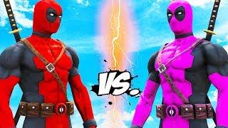 DEADPOOL VS DEADPOOL - Red Suit vs Pink Suit (Deadpool Battle)