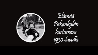 Elämää Pakankylän kartanossa 1930-luvulla - Backbyn Kartano Espoossa