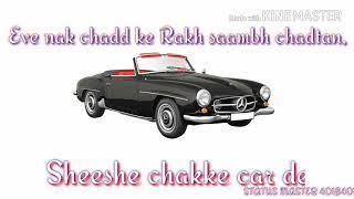   Expert Jatt   Nawab   Latest Whatsapp Status   lyrics   Punjabi Love song  