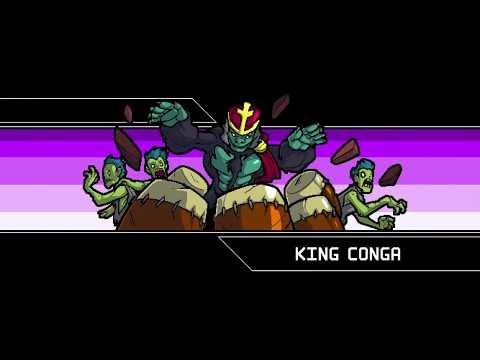 Crypt of the necrodancer - zone 1 - cadence (king conga boss)
