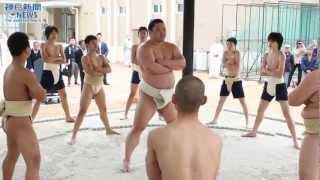 神戸市立中学校で唯一土俵がある夢野中学の校舎が3月25日、同市兵庫...
