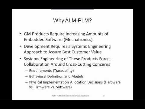 OSLC ALM-PLM Interoperability (1/5) - Introduction