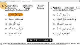 Anadolu Üni #AÖF #ARAPÇA 1 Final Öncesi Çıkmış Sorular Çözümü