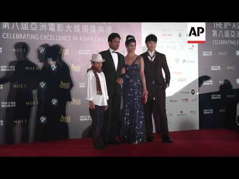 Asian film A-listers walk red carpet of 8th annual Asian Film Awards