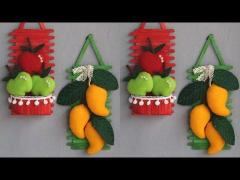 Ice cream stick crafts ideas | Diy popsicle | Hiasan dinding dari stik es krim