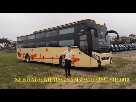 Giới thiệu XE KHÁCH GIƯỜNG NẰM THACO MOBIHOME 20 GIƯỜNG VIP 2018, xe GIƯỜNG NẰM CAO CẤP