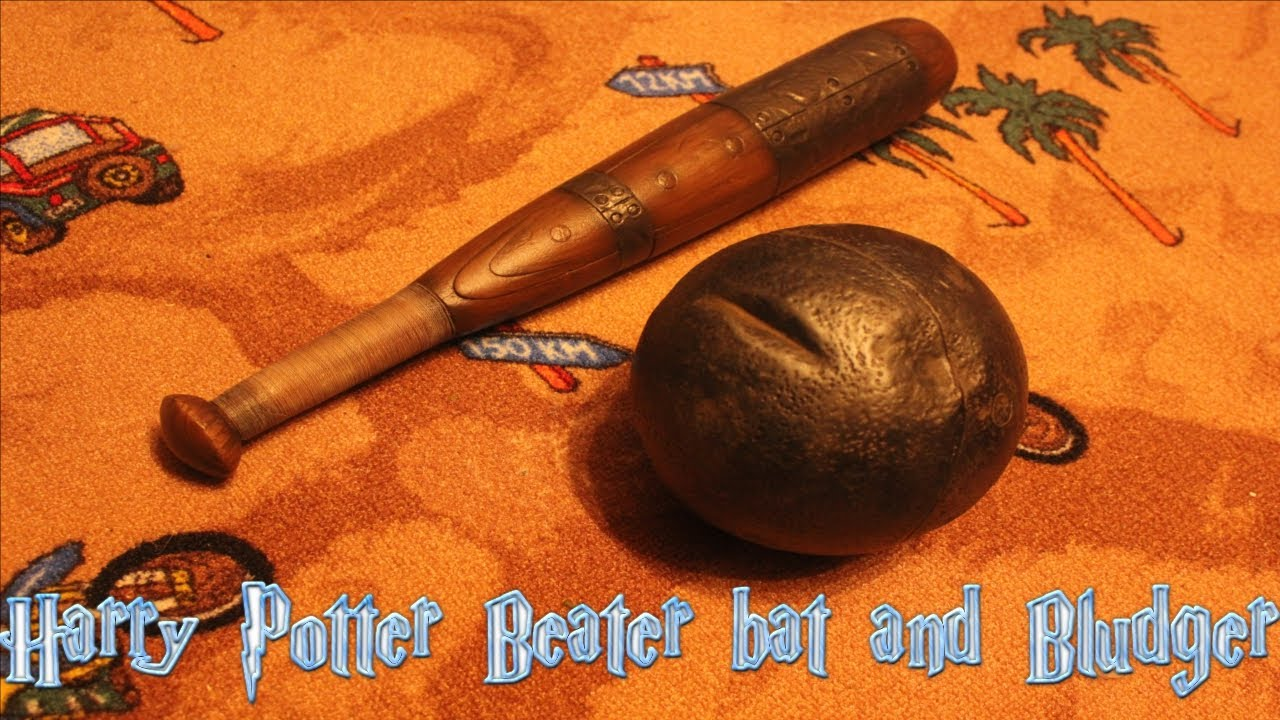 Harry Potter Quidditch Beater Bat and Bludger Ball Replica ...