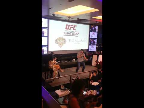 The Champ Stipe Miocic 2016 UFC  fight week Karaoke