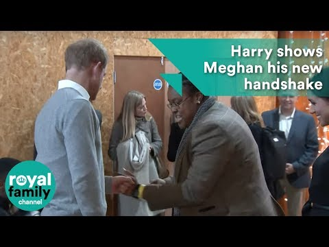Harry shows Meghan his new handshake