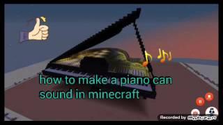 Cara membuat Piano bisa berbunyi di Minecraft