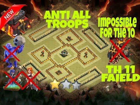 COC  TH10 (Town Hall 10) War Base Anti Everything || TH10 WAR BASE ANTI 2 STAR || CLASH OF CLANS