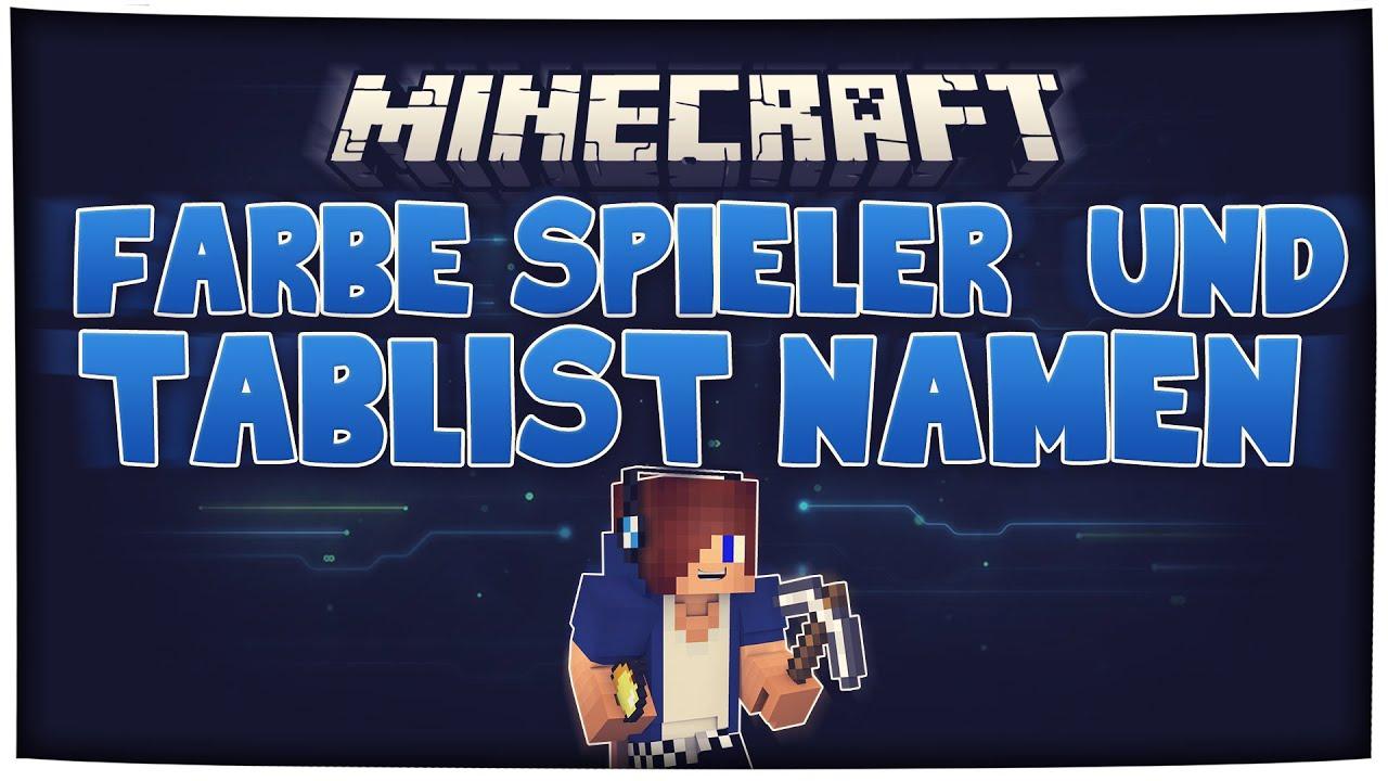 Minecraft Spieler Und Tablist Namen Farbig Machen HD Nilsrobert - Minecraft farbige namen andern