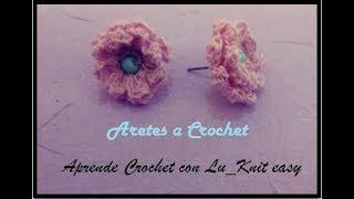 😍Tutorial Crochet ✔ Aretes Tejidos ❤Pendientes a Crochet❤How to Crochet Earrings /Free  Pattern/DIY