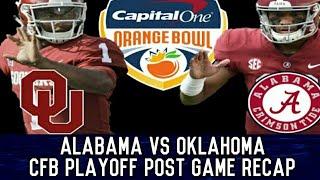 Alabama vs Oklahoma College Football Playoff Post Game Recap | Orange Bowl
