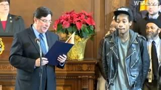 Raw Video: Wiz Khalifa Day declared in Pittsburgh