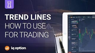 Trend lines. How to use. IQ option