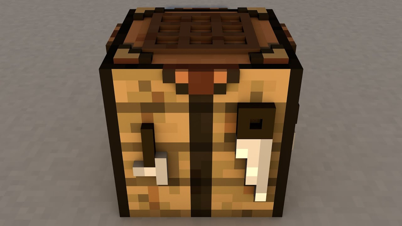 FREE Cinema 4D Minecraft Crafting Table Rig - YouTube