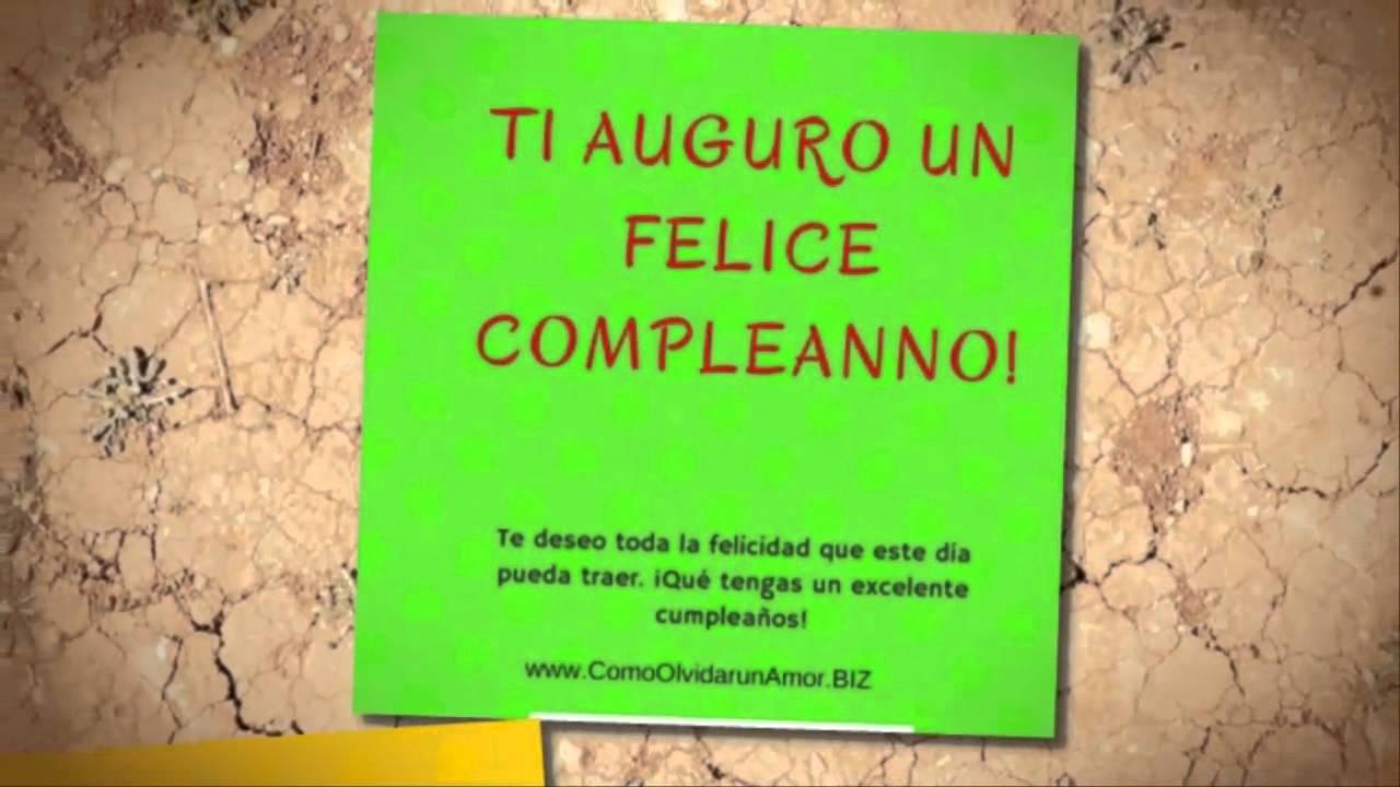 Feliz cumpleaños en Italiano - YouTube