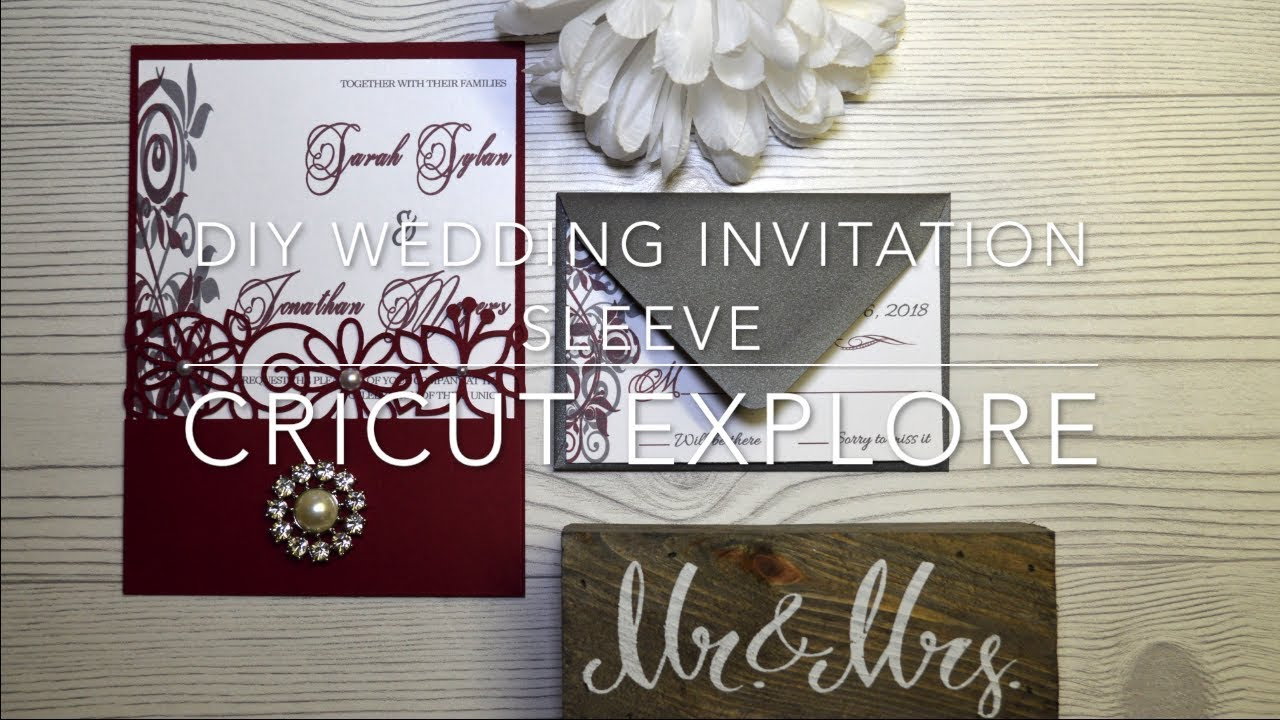 Diy Wedding Invitation Sleeve With Cricut Explore