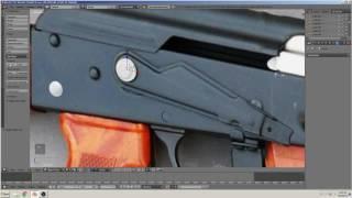 blender 3D التعليمي بناء بندقية(AK-47) الجزء 6