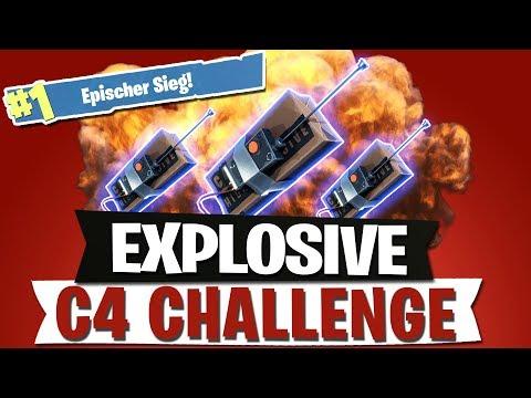EXPLOSIVE CHALLENGE | C4 NOOB FALLE | FORTNITE BATTLE ROYALE Deutsch