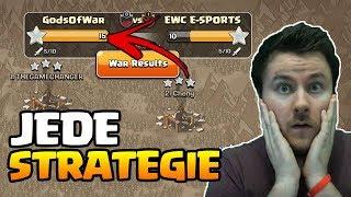 Perfekter Clankrieg mit verschiedenen Strategien | Clash of Clans deutsch