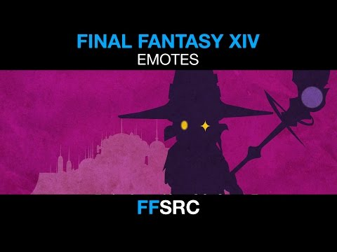 Final Fantasy XIV - Battle Stance and Victory Pose  - Black Mage