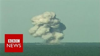 'Mother of All Bombs' test (archive)   BBC News