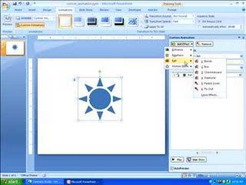 Adding Custom Animation in PowerPoint 2007