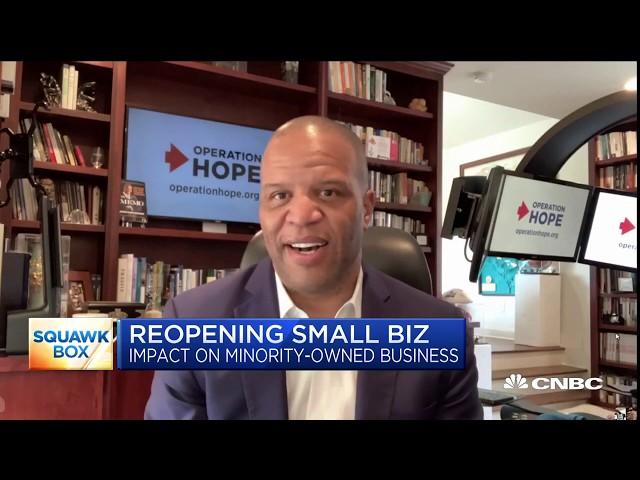 John Hope Bryant discusses coronavirus impact on minority-owned businesses - Squawk Box 6.24.2020