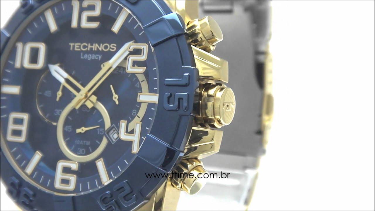 f7a16e64ec Relógio Technos Classic Legacy OS20IQ 4A - YouTube