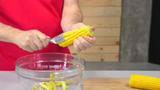 Using the original Kuhn Rikon corn zipper