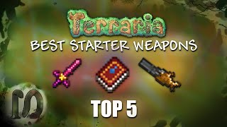 Terraria 1.3.5 - Top 5 BEST STARTER (pre-hardmode) WEAPONS (OVERPOWERED) - DEFEAT ANY PHM BOSS