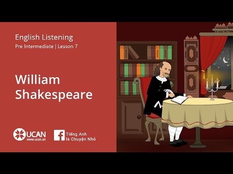Learn English Listening | Pre Intermediate - Lesson 7. William Shakespeare