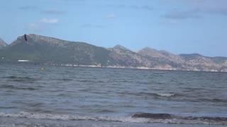 kite foil edmkpollensa kite school Mallorca Lotus 2 13 mts lernen kiten Portblue Club kite spot