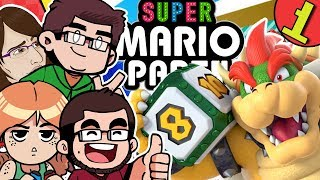 Lets Play Super Mario Party Nintendo Switch 4 Player Multiplayer Gameplay Whomps Domino Ruins Part 1