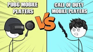PUBG Mobile Players VS Call Of Duty Mobile Players (The Real Battle)