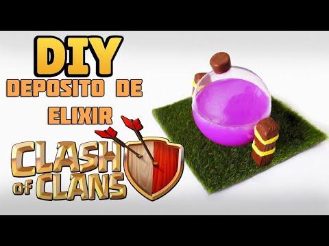 DIY: Como Fazer seu DEPÓSITO DE ELIXIR CLASH OF CLANS - Elixir Storage Tutorial