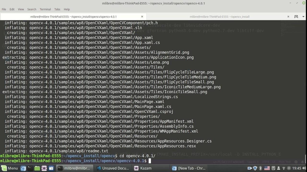 install opencv ubuntu